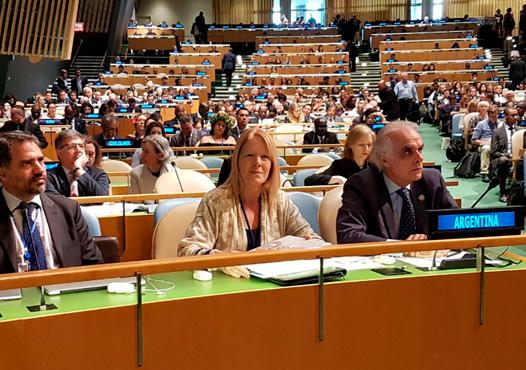 Presidió reunión de parlamentarios de todo el mundo. Participó de la conferencia sobre protección de los océanos y se reunió con la comisión de consolidación de la paz de naciones unidas