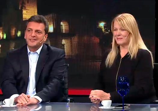 Margarita Stolbizer y Sergio Massa fueron entrevistados por Luis Majul en la última emisión de La Cornisa. Los referentes centrales del Partido GEN y del Frente Renovador, unidos en el Frente 1País, respondieron preguntas y expusieron ideas sobre el escenario político y las principales problemáticas del país.