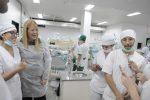 Stolbizer en la Facultad de Odontología de la UNLP. Foto: Prensa Stolbizer.
